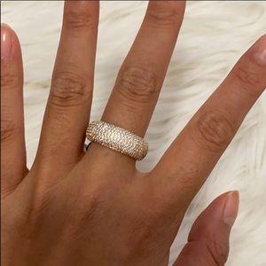 Henri Bendel Crystal Gold Ring